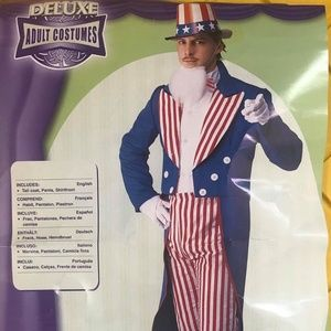Men's XL Halloween Costume Uncle Sam Independence